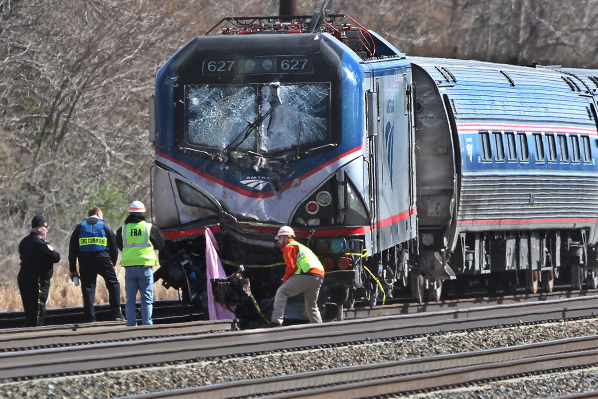 Amtrak crash engine 03 04 2016